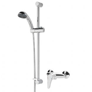 Bristan Jute Thermostatic Exposed Shower Mixer with Rigid Riser